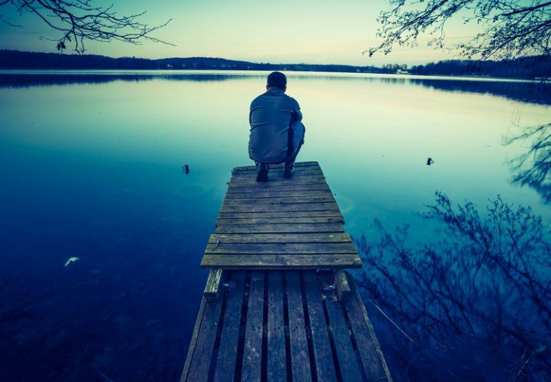 Bange for at være alene